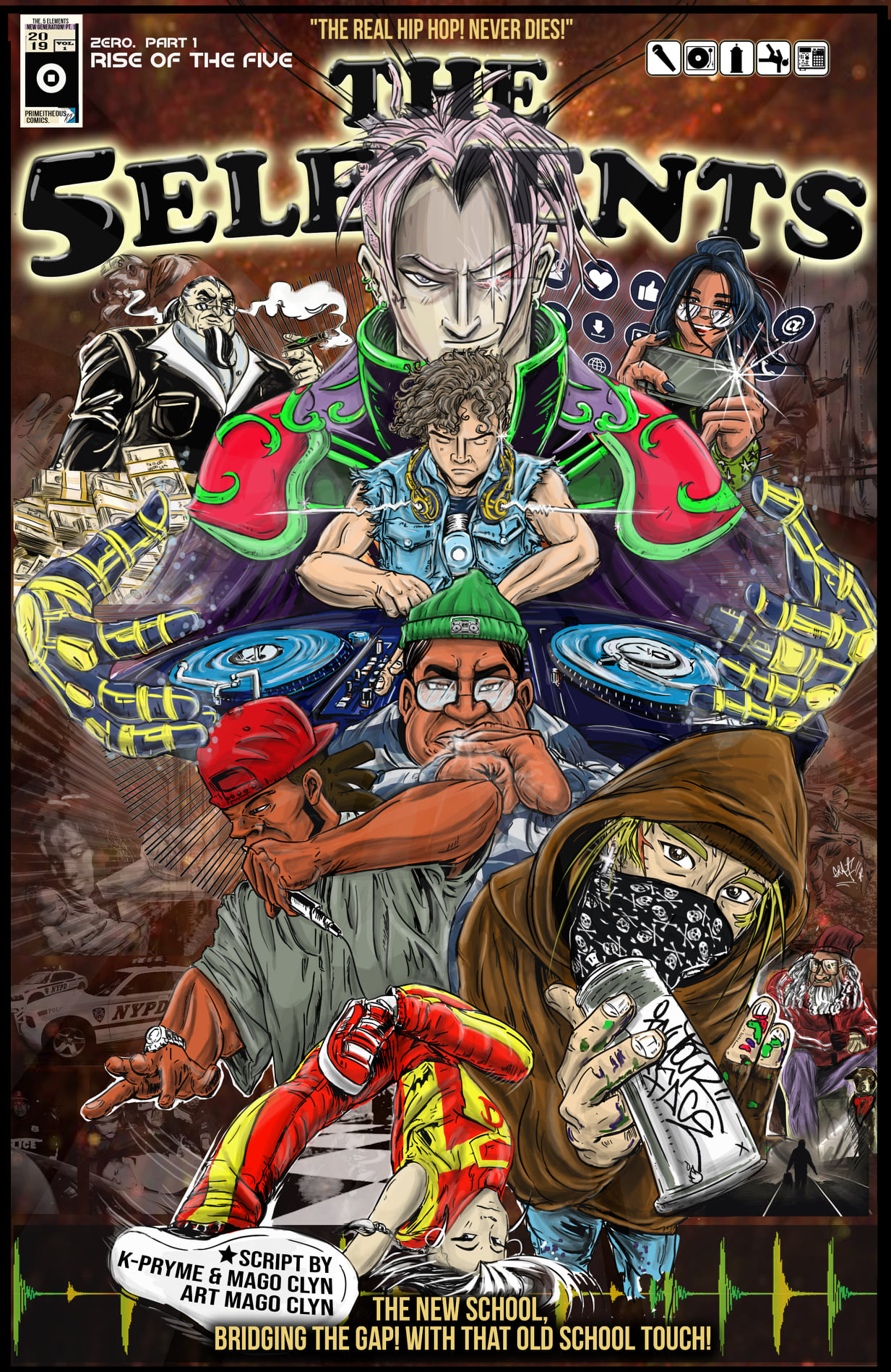 THE 5 ELEMENTS UNIVERSE, un cómic de la cultura hip hop