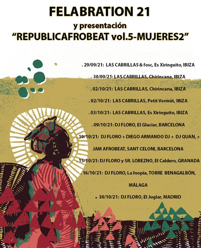 Llegan las FELABRATION21 y se presenta «Republicafrobeat vol.5-Mujeres2»